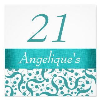 21st birthday elegant any age celebration custom announcement