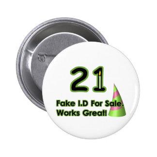 21st Birthday Fak I.D. 6 Cm Round Badge