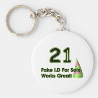 21st Birthday Fak I.D. Keychain