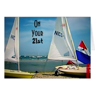 21st BIRTHDAY-FULL SAIL AHEAD Card