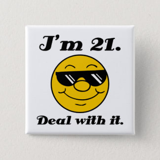 21st Birthday Gag Gift 15 Cm Square Badge