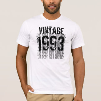 21st Birthday Gift 1993 Vintage Eggshell Black T-Shirt