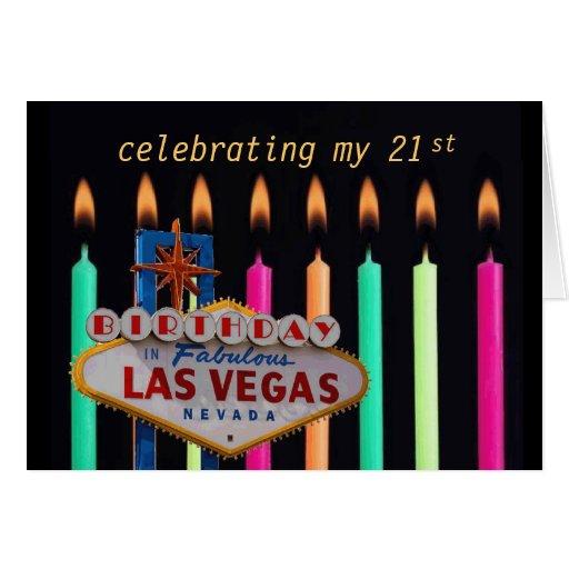 21st BIRTHDAY In Las Vegas Card
