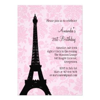 21st Birthday in Paris Custom Invitation