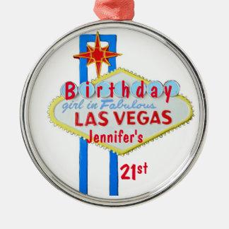21st Birthday Las Vegas Pendant Metal Ornament