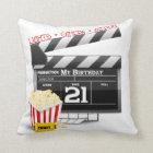 21st Birthday Movie Party Cushion