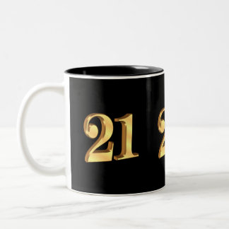 21st Birthday Mug 3D look number