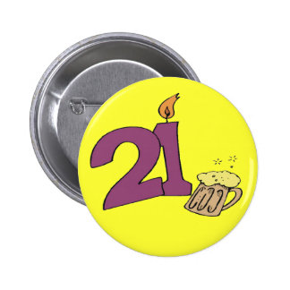 21st Birthday Party Button