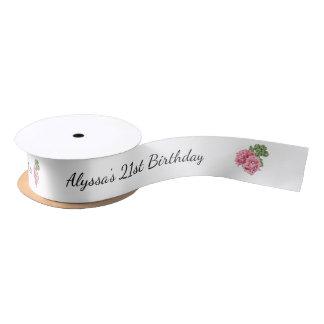 21st Birthday Party Favor Ribbon Satin Ribbon