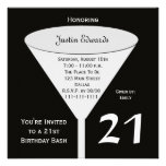 21st Birthday Party Invitation in Black