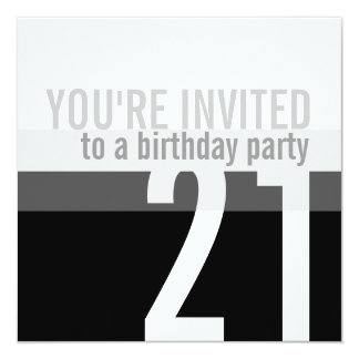 21st Birthday Party Invitations {Silver}