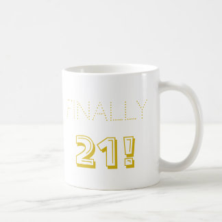 21st Birthday Party White and Black Coffee Mug