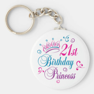21st Birthday Princess Key Chain