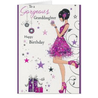 21st Birthday Purple Card
