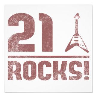 21st Birthday Rocks Personalised Announcement