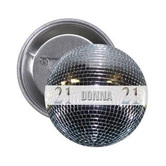 21st Birthday Silver Number 21 6 Cm Round Badge