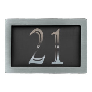 21st Birthday Silver Number 21 Belt Buckles