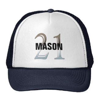 21st Birthday Silver Number 21 Mesh Hat