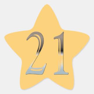 21st Birthday Silver Number 21 Sticker
