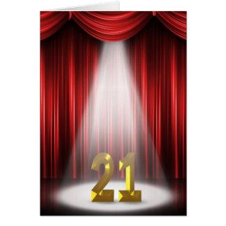 21st Birthday Spotlight Greeting Card