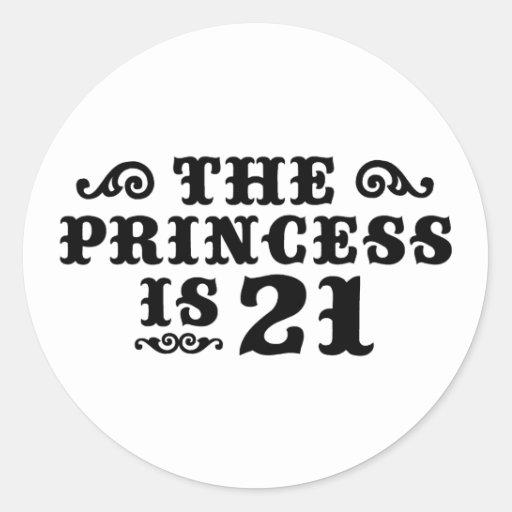 21st Birthday Sticker