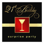 21st Birthday Surprise Party - Event Invitations