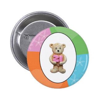 21st Birthday Teddy Bear 6 Cm Round Badge