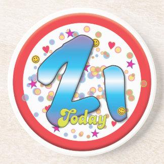 21st Birthday Today Coasters