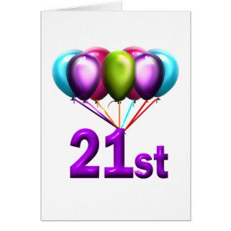 21st greeting card