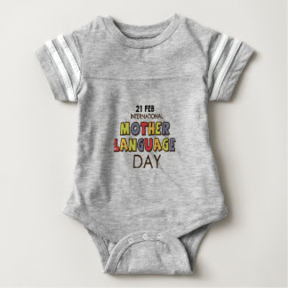 21st February - International Mother Language Day Baby Bodysuit