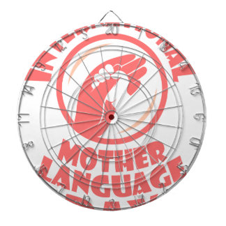 21st February - International Mother Language Day Dartboard With Darts