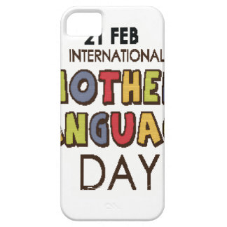 21st February - International Mother Language Day iPhone 5 Cover