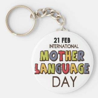 21st February - International Mother Language Day Key Ring
