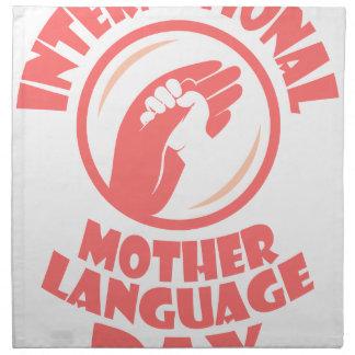 21st February - International Mother Language Day Napkin