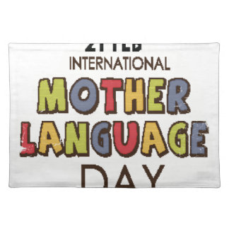 21st February - International Mother Language Day Placemat