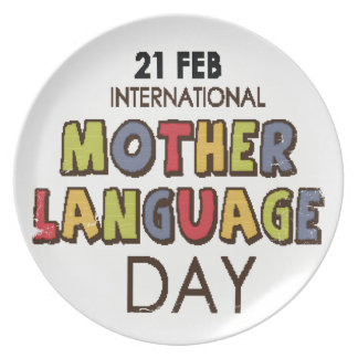 21st February - International Mother Language Day Plate