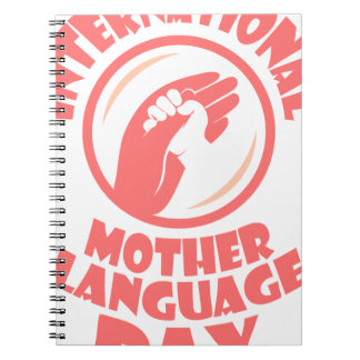 21st February - International Mother Language Day Spiral Note Book