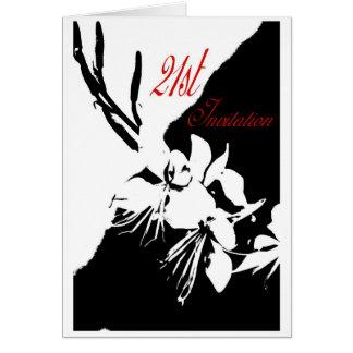 21st Invitation Greeting Card