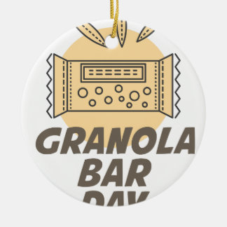21st January - Granola Bar Day Ceramic Ornament