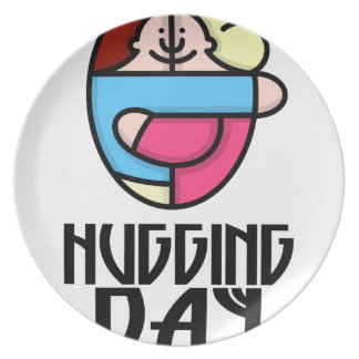 21st  January - Hugging Day - Appreciation Day Dinner Plate