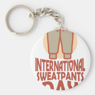 21st January - International Sweatpants Day Key Ring