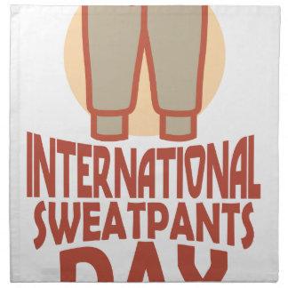 21st January - International Sweatpants Day Napkin