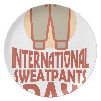 21st January - International Sweatpants Day Party Plates
