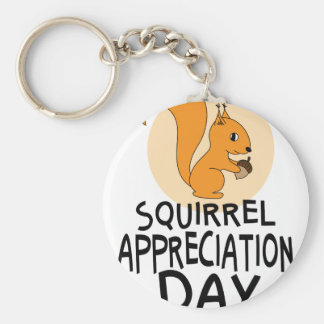21st January - Squirrel Appreciation Day Basic Round Button Key Ring