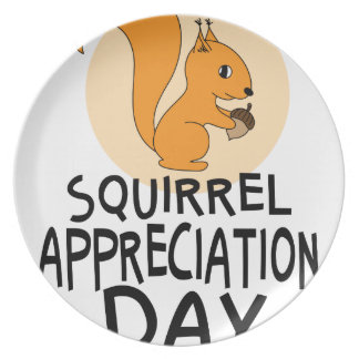 21st January - Squirrel Appreciation Day Dinner Plates