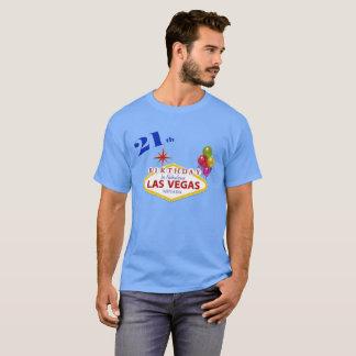 21st Las Vegas Birthday Men's Dark T-Shirt