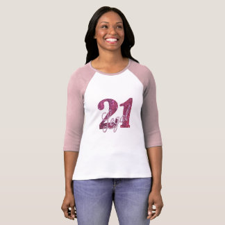 21st Pink | 21 Legal Pale Magenta Birthday Party T-Shirt