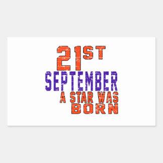 21st September a star was born Rectangular Sticker
