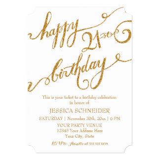 21st, Twenty First Birthday Party Celebration 13 Cm X 18 Cm Invitation Card