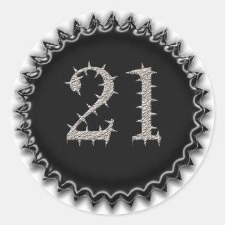 21st Vegas Birthday Classic Round Sticker